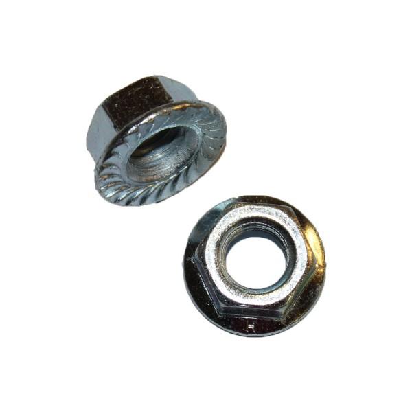 1/2 Zoll - 13 UNC Flanschmutter Stahl verzinkt