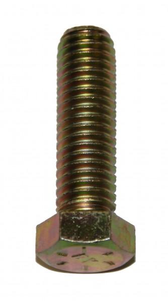 7/16 Zoll - 14 x 1 1/2 Zoll Länge 38,10 mm Sechskantschraube UNC 10.9 gelb verzinkt