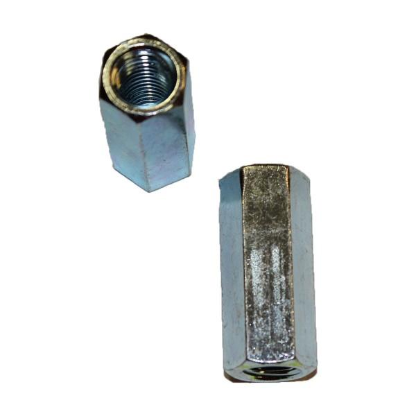 1/2 Zoll - 13 UNC Langmutter verzinkt Länge 44,45 mm