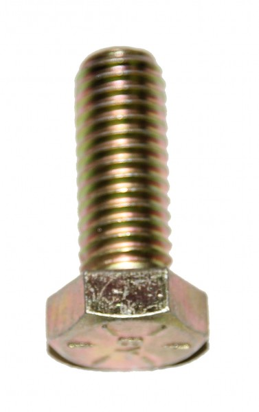 5/16 Zoll - 18 x 1 Zoll Länge 25,40 mm Sechskantschraube UNC 10.9 gelb verzinkt