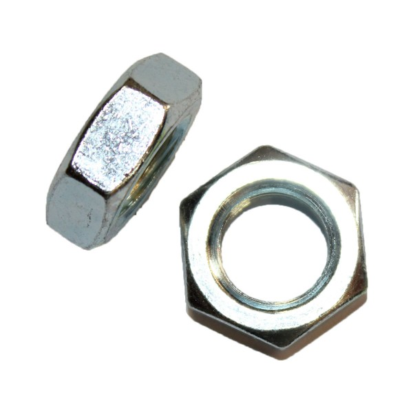 3/4 Zoll - 10 UNC Sechskantmutter Flach Hex Jam Nut Grade A verzinkt