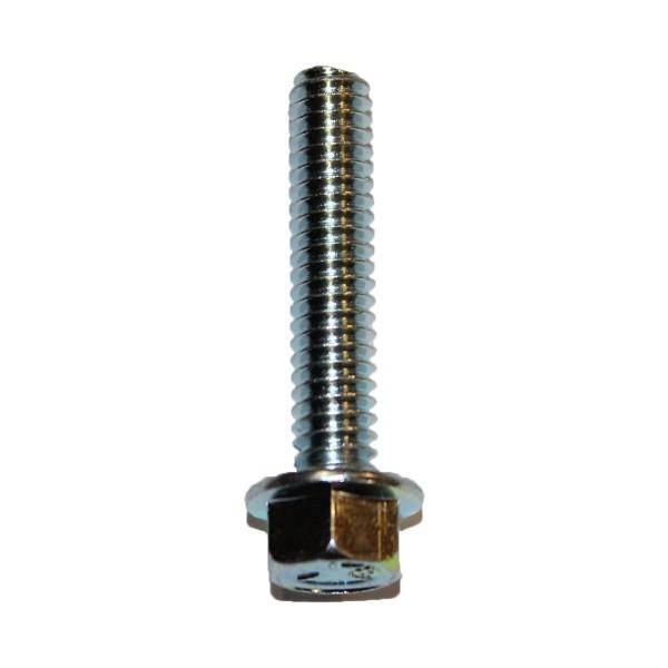 1/4 Zoll - 20 x 1 1/4 Zoll Länge 31,75 mm Sechskantschraube mit Flansch UNC verzinkt