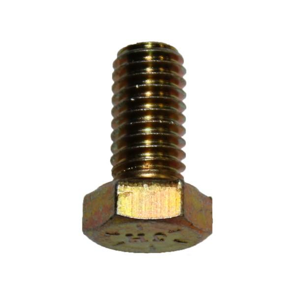 3/8 Zoll - 16 x 3/4 Zoll Länge 19,05 mm Sechskantschraube UNC 10.9 gelb verzinkt