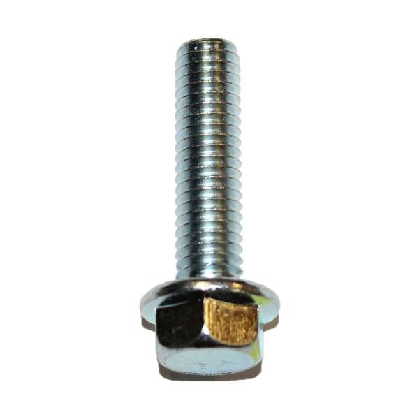 3/8 Zoll - 16 x 1 1/2 Zoll Länge 38,10 mm Sechskantschraube mit Flansch UNC verzinkt