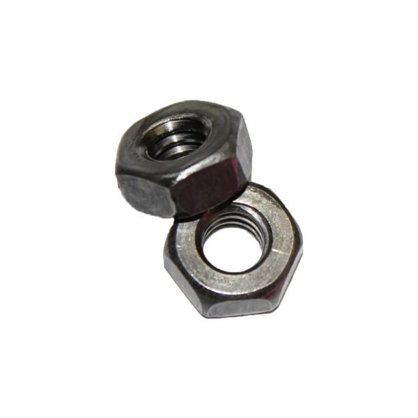 1/4 Zoll - 20 UNC Sechskantmutter Stahl Flache Form