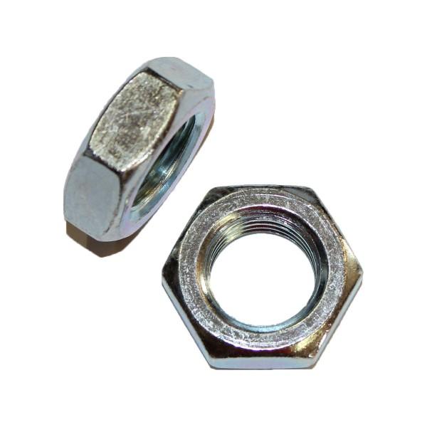7/8 Zoll - 9 UNC Sechskantmutter Flach Hex Jam Nut Grade A verzinkt