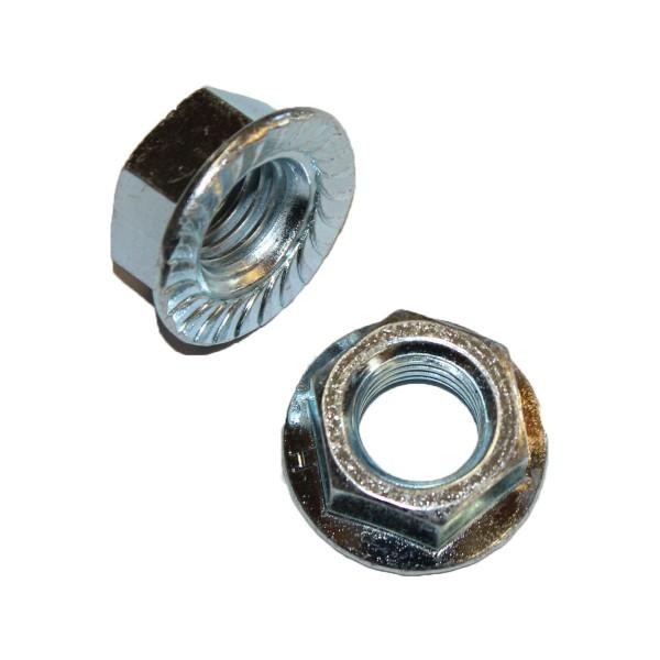 3/4 Zoll - 10 UNC Flanschmutter Stahl verzinkt