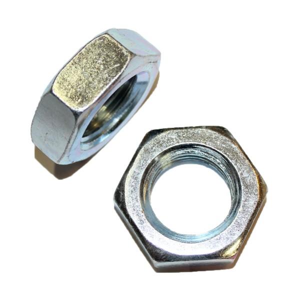 1 Zoll - 8 UNC Sechskantmutter Flach Hex Jam Nut Grade A verzinkt