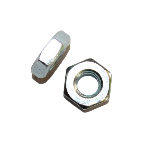 1/4 Zoll - 28 UNF Sechskantmutter Flach Hex Jam Nut Grade A verzinkt