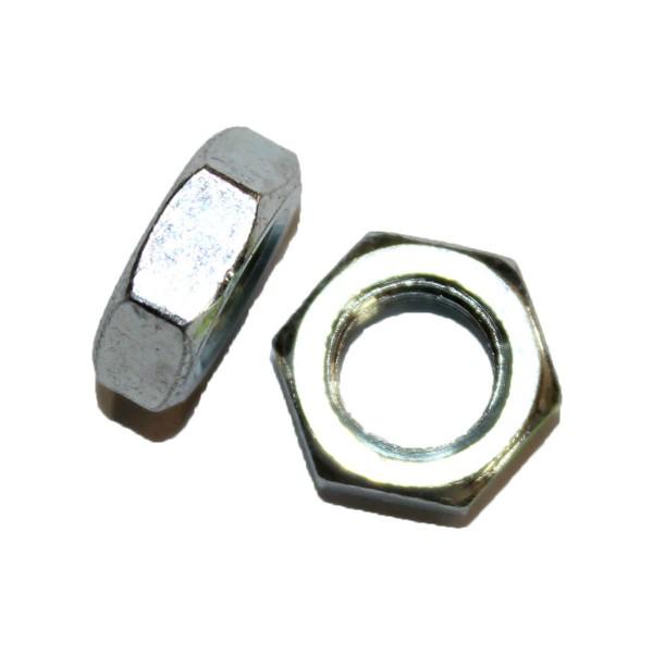 3/8 Zoll - 24 UNF Sechskantmutter Flach Hex Jam Nut Grade A verzinkt